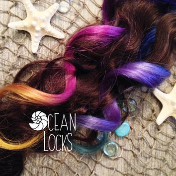 Ombre Hair Extensions,  Hair extensions clip in, Purple Hair, Lavender Hair, Turquoise Hair, Blue Hair, Green Hair, Pink Hair