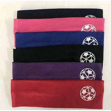Soccer Ball Cotton Headbands