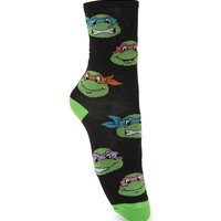 With Love From CA Ninja Turtles Boot Socks - Womens Scarves - Black - One