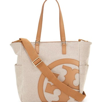 Lonnie Leather-Trim Baby Bag - Tory Burch