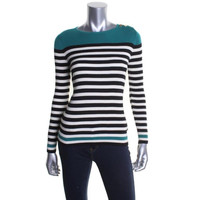 Ralph Lauren Womens Ribbed Knit Long Sleeves Pullover Sweater