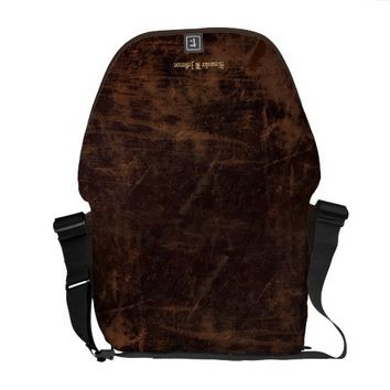 Faux Vintage Leather Custom Personalized Book / Messenger Bag