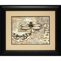 North American Art POw48381d Poetic Dragonfly I by Charie Klia Zarris: 22 x 28 Print Reproduction