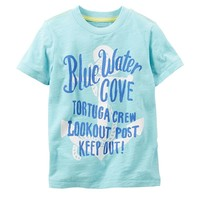Carter's ''Blue Water Cove'' Anchor Tee - Toddler Boy, Size: