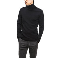 Men Turtleneck Sweaters Pullovers Men's Casual Slim Fit Long Sleeved Knitted Plus Size Sweaters BL