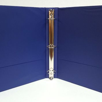 "1"""" Basic 3-Ring Binder w/ Two Inside Pockets - Blue Case Pack 12"