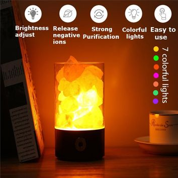 Himalayan Salt Lamp ~ Night Light With Touch Dimmer Switch