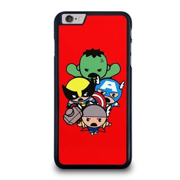 kawaii captain america hulk thor wolverine marvel avengers iphone 6 6s plus case cover  number 1
