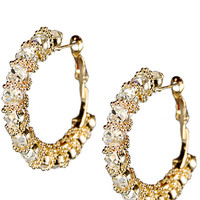 Spiral 4cm Hoop Earrings in Gold – bandbcouture.com