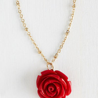 Fairytale Retro Rosie Necklace in Red by ModCloth