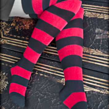 Socks by Sock Dreams » Socks Special Collections » Stripes » Extraordinary Striped Thigh Highs