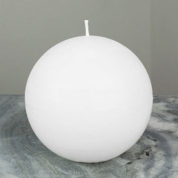 White Ball Candle | Large 4""