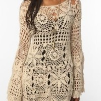 UrbanOutfitters.com > UNIF Crochet Bell Sleeve Dress