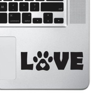 Cat Paw Print LOVE Vinyl Laptop Decal MAcbook Pro Air Keyboard Sticker iPad Mini