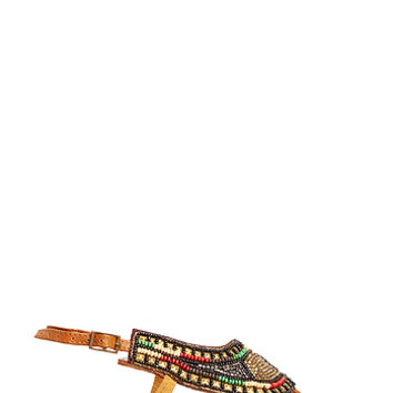 DailyLook: Z & L Beaded Thong Sandals in Multi-colored 6 - 7.5