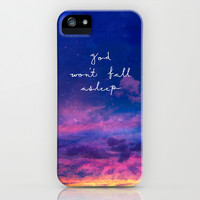Psalm 121:3 God Won't fall Asleep iPhone & iPod Case by Pocket Fuel