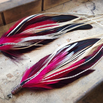 Grace Extra Long Feather Earrings