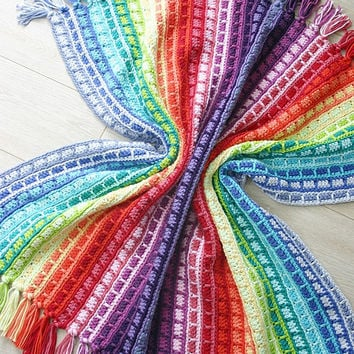 Crochet Pattern, Color Reel Blanket, Baby, Throw, Afghan
