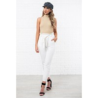 All That Magic Tie Front Pants (White)