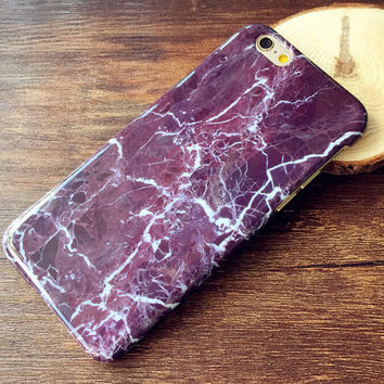 Black Gray Marble Case Cover for iPhone 5s 6 6s Plus