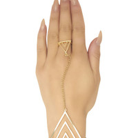 Geometric Pendant Hand Jewelry | Wet Seal