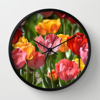 Brilliant Spring Wall Clock by Lisa Argyropoulos