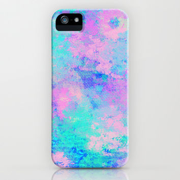 BLUE OPAL CANVAS iPhone & iPod Case by Oksana Smith
