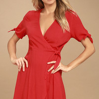 My Philosophy Red Wrap Dress