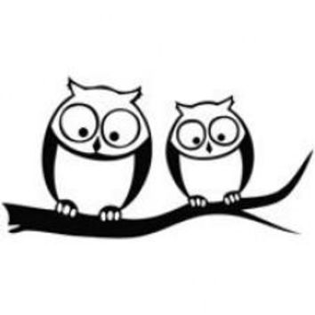 Owl Look Below Automobile Car Window Decal Sticker Tablet PC Sticker Wall Laptop Notebook Ipad Etc. Any Smooth Surface
