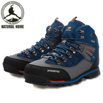 Natural Home Outdoor Hiking Trekking Boots Waterproof Boot Brand Men Sport Shoes Mountain Climbing Hiking Shoes Boots