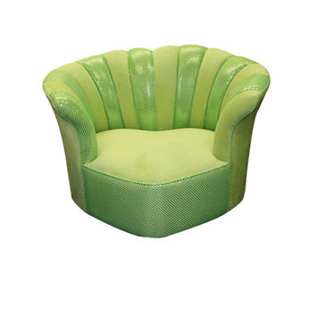 Komfy Kings, Inc 38052 Newco Kids Lime Velvet with Lime Sequins Sweetheart Tween Chair