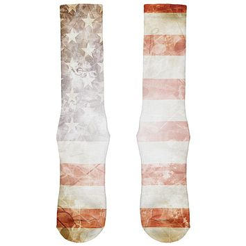 4th of July American Flag Star Spangled Banner All Over Soft Socks