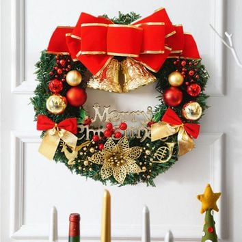 30cm christmas large wreath door wall hanging ornament garland