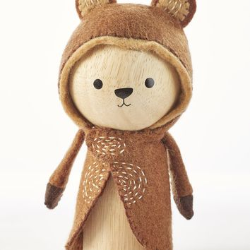 Leo the Bear - Wooden Animal Dolls by ZooModern