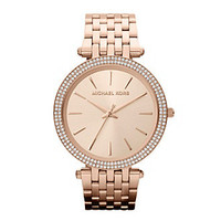 Michael Kors® Rose Gold Darcy Watch at www.herbergers.com