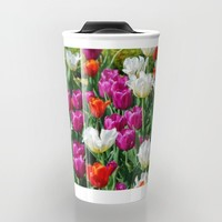 Flowers field Travel Mug by Claude Gariepy