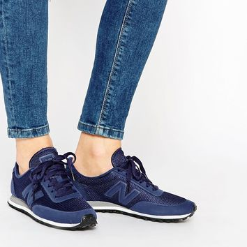 New Balance 410 Blue Sonic Mesh Trainers at asos.com