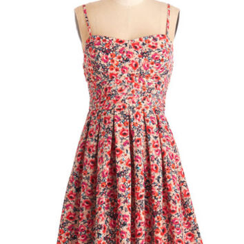 ModCloth Spaghetti Straps A-line Dance of the Flowers Dress