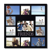 """Decorative Black Wood """"Friends"""" Wall Hanging Collage Picture Photo Frame"""