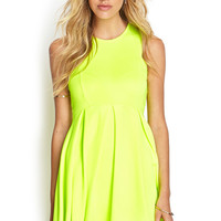 Neon Racer Pleated Dress