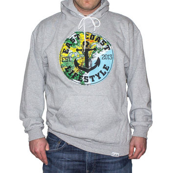 ECL Map Hoodie - Grey - EastCoast Lifestyle