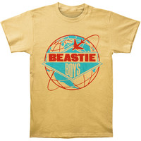 Beastie Boys Men's  Around The World Tour Slim Fit T-shirt Honey