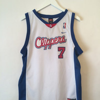 LAMAR ODOM CLIPPERS Jersey 7 Size XLarge