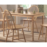 Coaster Furniture 4347 Damen Natural Wood Rectangle Leg Dining Table