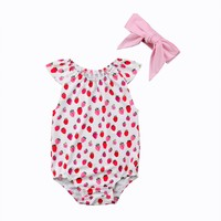 Strawberry Playsuit & Headband Set