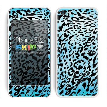 Turquoise Dyed Animal Print Skin For The iPhone 5c