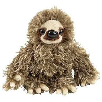 6 Inch Baby Three-Toed Sloth Stuffed Animal Zoo Plush