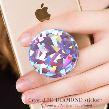 Crystal 3D diamond sticker for PopSocket or phone ring decal case for iPhone | eBay