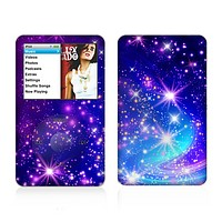 The Glowing Pink & Blue Starry Orbit Skin For The Apple iPod Classic