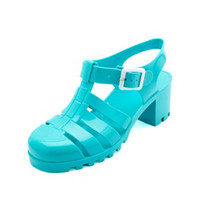 LUG HEELED JELLY SANDALS